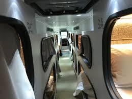 what it u0027s like to ship yourself overnight on cabin u0027s sleep pod bus