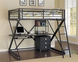 desks full size loft bed with storage workstation loft beds