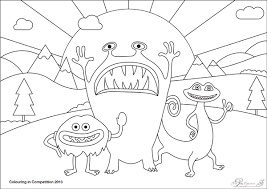 kids monster colouring competition company