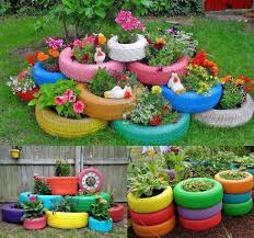 How To Use Old Tires For Decorating 16 How To Use Old Tires For Decorating 12 Lovely Garden
