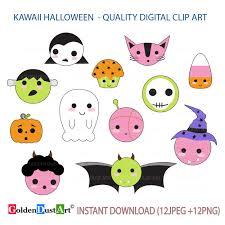 small halloween emoticons transparent background 20 off sale cute halloween clipart kawaii halloween