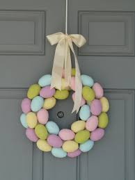 how to make an easter egg wreath something wonderful paper mache easter egg wreath