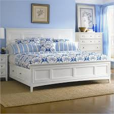 Vanity Desk Mirror Elegant White Bedroom Furniture White Leather High Bed Frame White