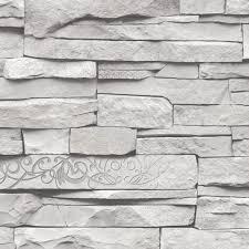 aliexpress com buy grey white embossed brick wall wallpaper roll