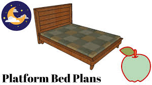 how to build a platform bed frame youtube