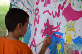free images game play city child painting public space art