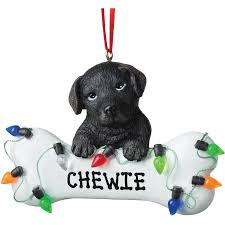 personalized ornament black lab bone walmart