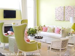 Green Sofachair Design And Wall Design In Modern Living Room - Sofa chair design