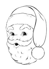 santa face coloring pages for christmas free printable christmas