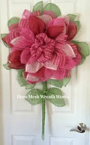 paper mesh flower wreath deco mesh flower wreath popular