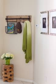 phoenix modern coat rack entry farmhouse with ombre scarf