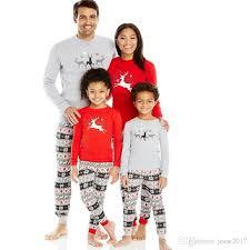 2017 family matching pajamas new sleepwear clothing