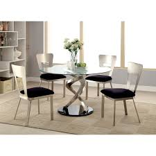 furniture of america sparling 5 piece dining table set with