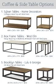Coffee Table Frame Some Favorite Coffee Tables K Designs