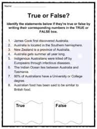 australia facts worksheets u0026 information for kids