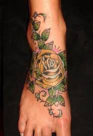 foot flower tattoos all about