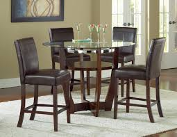contemporary counter height table venus counter height glass top table and 4 chairs soft contemporary