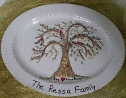 personalized family platters custom personalized family tree platters aressa s weblog
