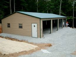 Building A 2 Car Garage by Construction Steel Building Garages