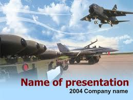 aircraft free powerpoint template backgrounds 00059