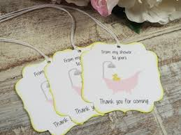 bubble bath baby shower favor tags rubber duck baby shower