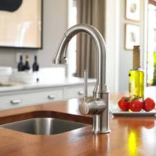 kohler polished nickel kitchen faucet sink faucets danze opulence