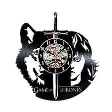 game of thrones creative black vinyl record wall clock unique