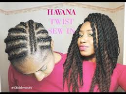 sewing marley hair jumbo havana twist diy start to finish sew in youtube