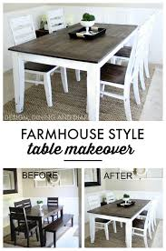 farmhouse table makeover characters learning and farmhouse table