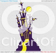 halloween bats clear background clipart of a cartoon hill top halloween castle with bats and a