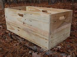 x large reclaimed wood crate wooden crate toy storage box