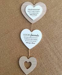 friendship heart friendship hanging wooden heart decoration about wood