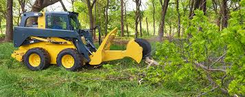 high speed rotating tree saw attachment for skid steers