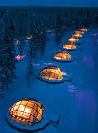 northern lights vacation spots thermal glass igloos offer views of the northern lights at finland s