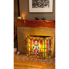 river of goods 8221 stained glass fireplace screen ebay