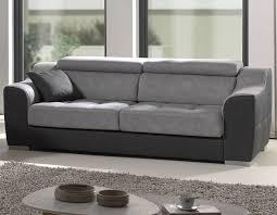 canapé 3 places canape gris en tissu 3 places hcommehome