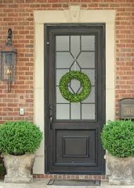 Exterior Doors Pittsburgh This Charcoal Front Door With The Frosted Glass On A Brick