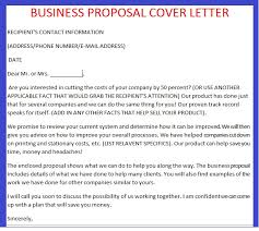 fresh sample cover letter for a business proposal 55 for your best