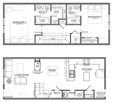floor plan for small houses very narrow unit plans for apartments townhomes and condos