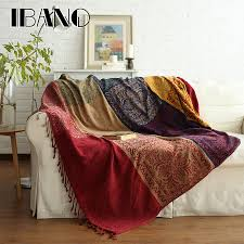 chenille throws for sofas blanket design ibano bohemian chenille plaids blanket sofa