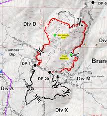 Usfs Fire Map Mission Fire In Eastern Madera County Perimeter Map For Friday