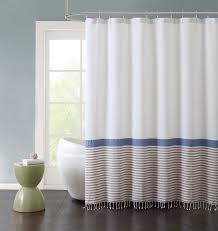 Stripe Shower Curtains Latitude Run Mccartner Hugo Striped Cotton Fringe 72