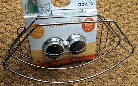 2 x croydex stick n lock bathroom storage basket no drilling