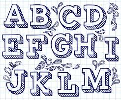 hand lettering font free hand drawn font shaded letters and