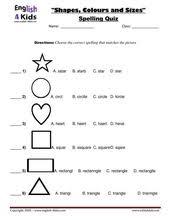 esl kids worksheets shapes u0026 colours worksheets