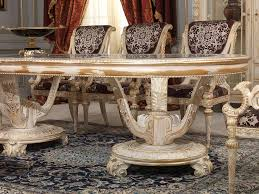 Luxury Dining Room Furniture by Luxury Classic Dining Room Louis Xvi White And Gold Vimercati