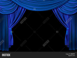 Bright Blue Curtains Bright Blue Stage Curtains Image Photo Bigstock