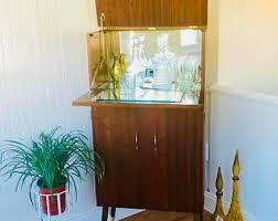 Office Bar Cabinet Vintage Bar Etsy