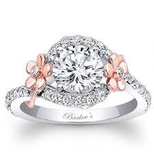 overstock engagement rings barkev s designer 14k and white gold floral