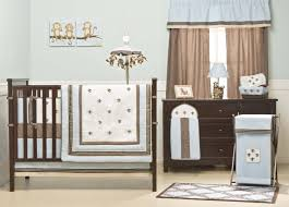baby nursery cute baby room decoration with brown wooden crib